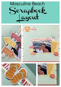 Masculine Beach Scrapbook Layout