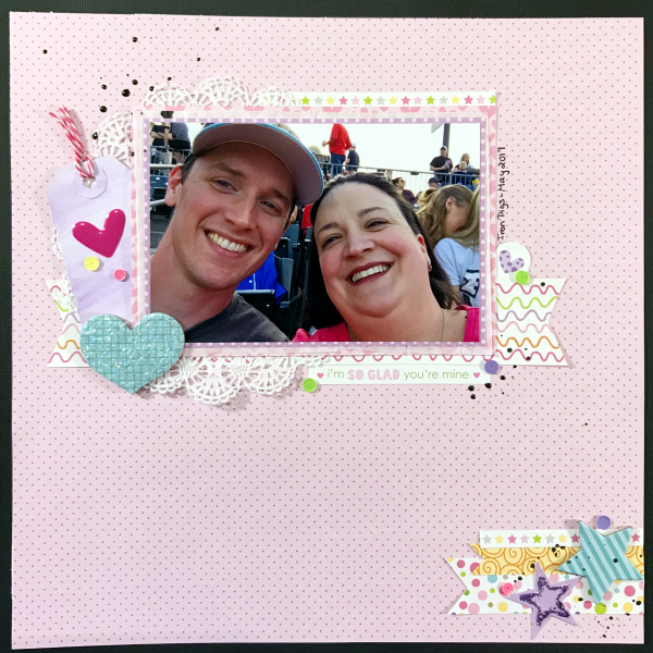 Couples Scrapbook Layout