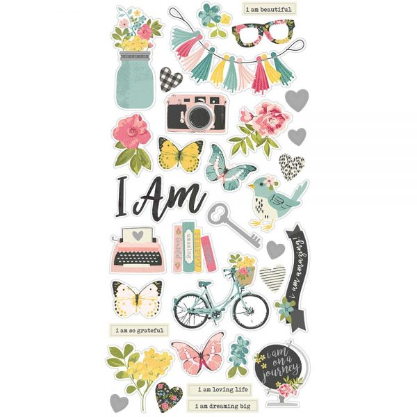 Simple Stories I Am Chipboard Stickers