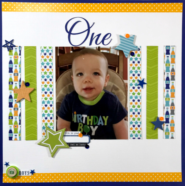 Birthday Boy Scrapbook Layout