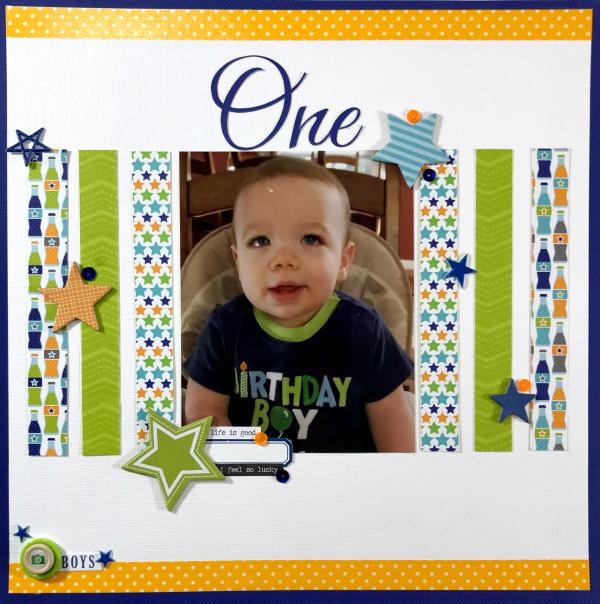 Birthday Boy Scrapbook Layout