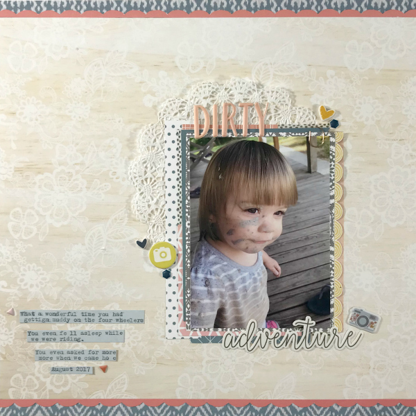 Messy girl scrapbook layout
