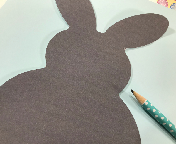 Trace your bunny silhouette