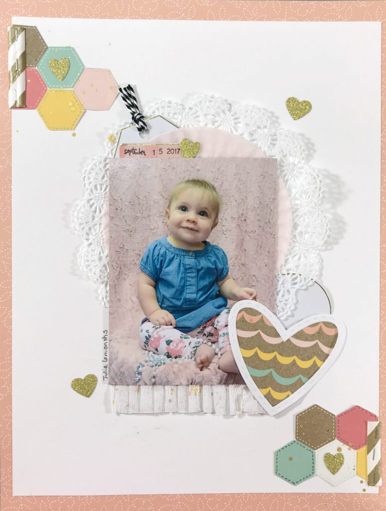 baby girl scrapbook layout