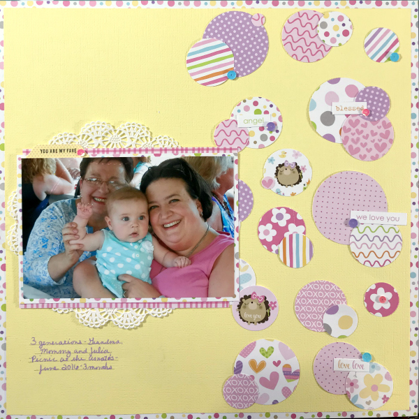 family scrapbook layout using punches