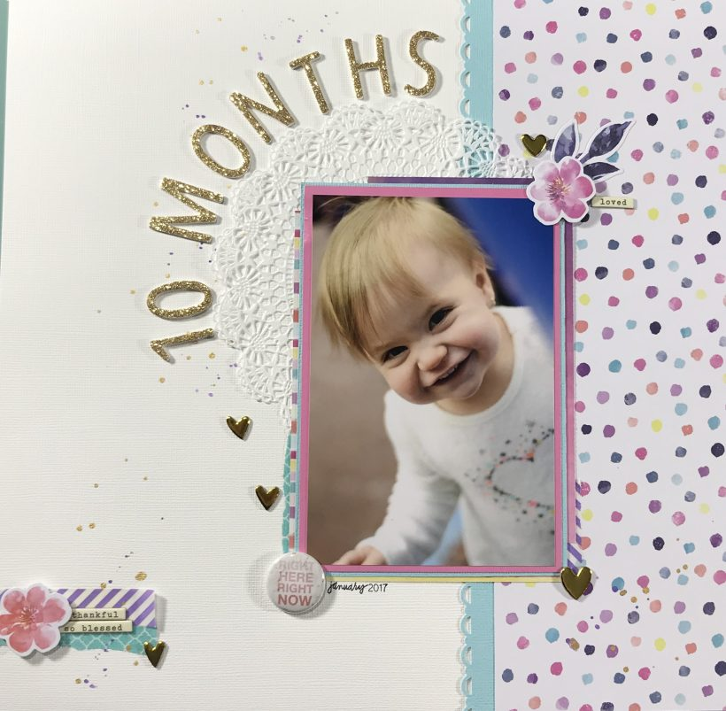 Come get some ideas on creative a baby girl scrapbook layout