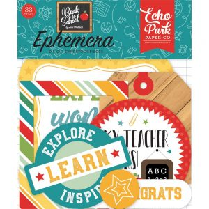 echo park Back to school die-cuts