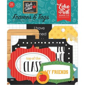 Echo Park Back To School Frames and Tags