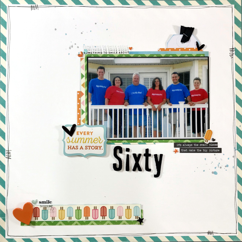Sixtieth Birthday Family Layout
