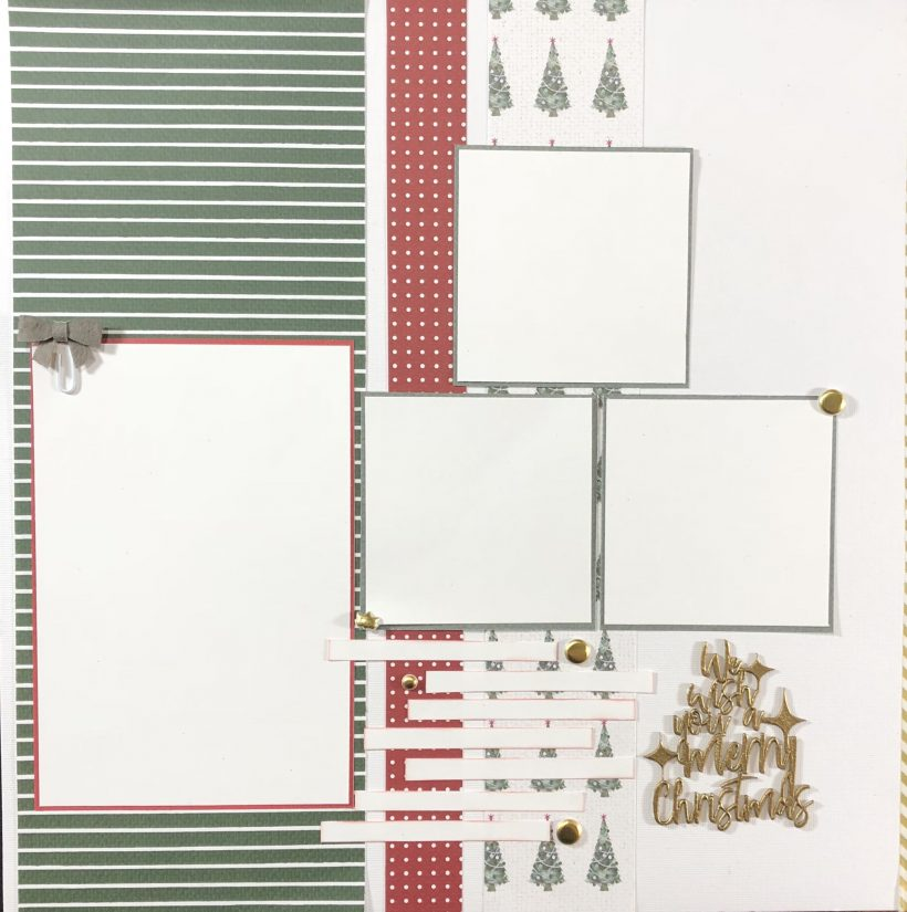 Need a quick and easy santa layout with room for lots of photos. Come see my Santa Clause Scrapbook Layout featuring four photos.