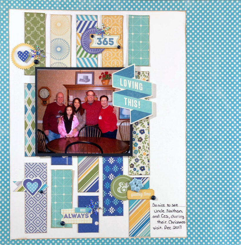 Need to create some Christmas layouts, but tired of traditional red, white and green? Come over and see my Family Christmas Scrapbook Layout.