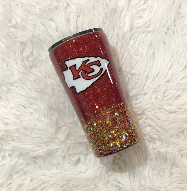 20oz Kansa City Chiefs Glitter Tumbler