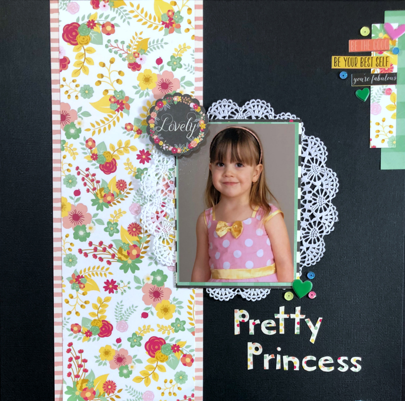 pretty princess scrapbook layout