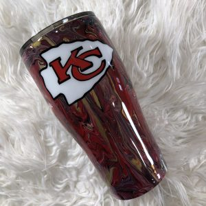 30oz Marble Painted Kansas City Chiefs Tumbler