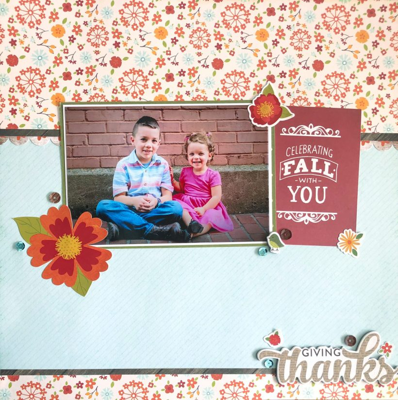 Fall Sibling Scrapbook Layout