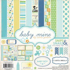 Carta Bella Baby Mine 12x12 Scrapbook Collection Kit