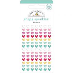 Doodlebug Lot Of Love Shape Sprinkles