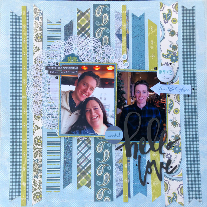 Hello Love Scrapbook Layout