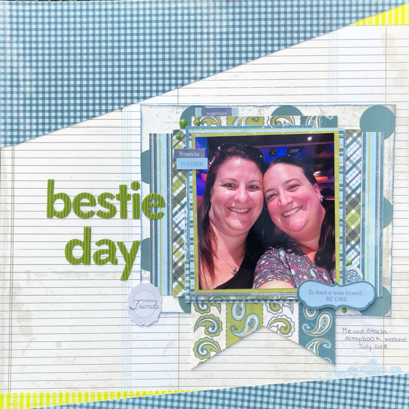 Best friends scrapbook layout
