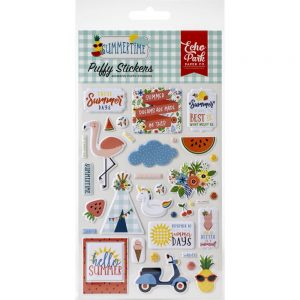 Echo Park Summertime Puffy Stickers