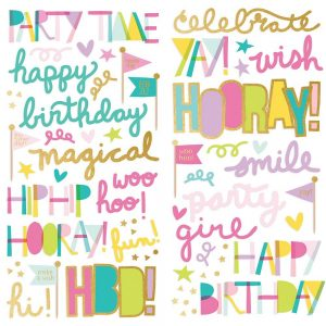 Simple Stories Magical Birthday Puffy Stickers