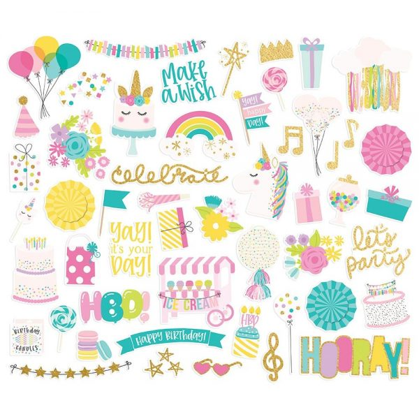 Simple Stories Magical Birthday Bits & Pieces