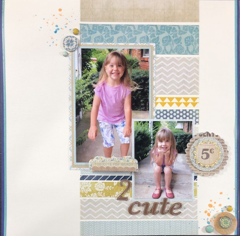 2 Cute Girl Scrapbook Layout
