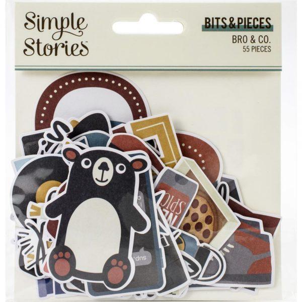 Simple Stories Bro & Co Die Cut Bits & Pieces