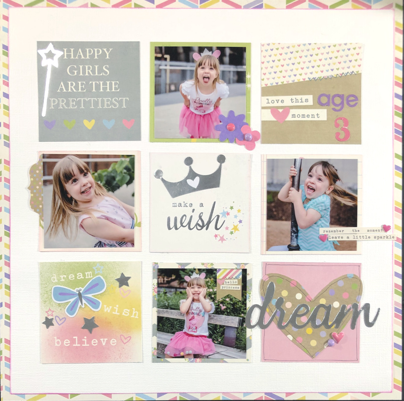 Dream Little Girl Scrapbook Layout