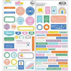 Pinkfresh Studio Let's Stay Home Cardstock Stickers