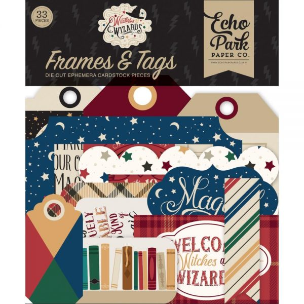 Echo Park Witches and Wizards Frame and Tags