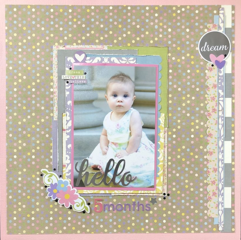 Adorable Baby Girl Scrapbook Layout
