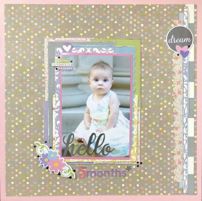 Adorable Baby Girl Scrapbook Layout