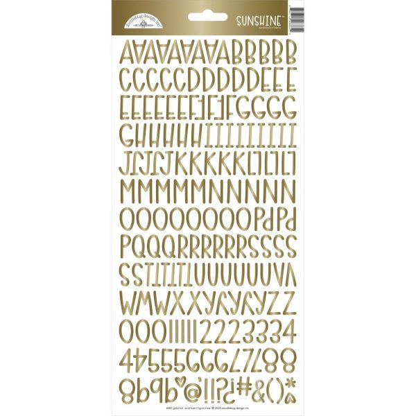 Doodle Gold Sunshine Cardstock Stickers