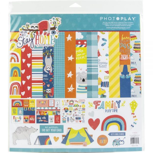 Photoplay We Can Just Stay Home 12x12 Collection kit