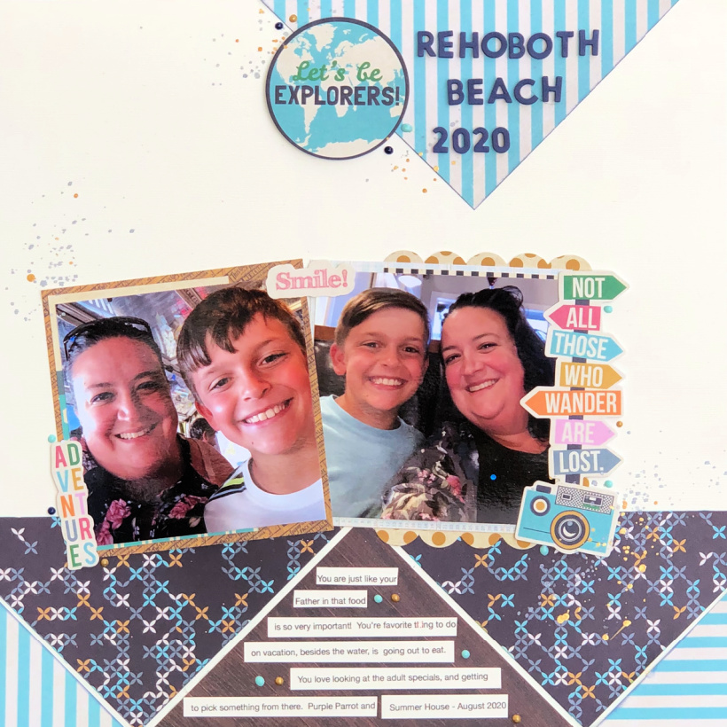 Mother and Son Scrapbook Layout