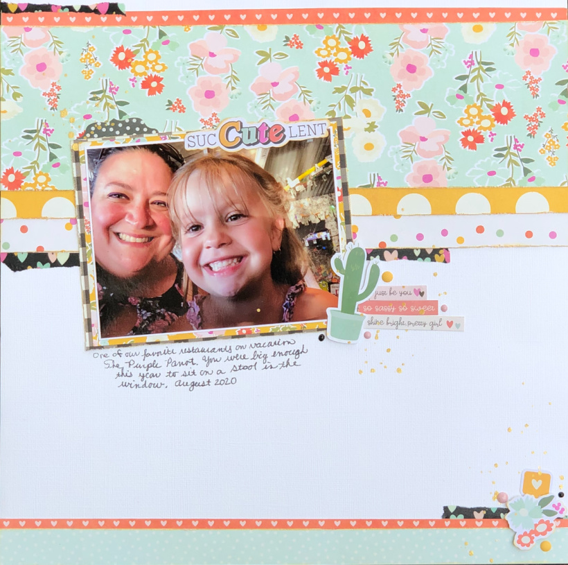 Mother Daughter Scrapbook Layout
