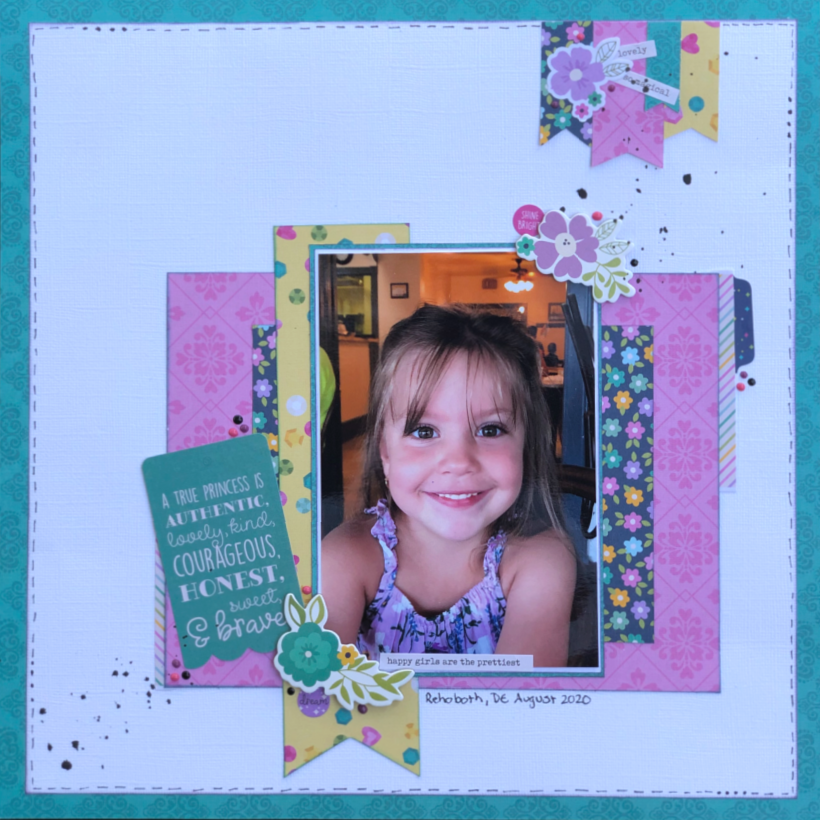 Adorable Daughter Scrapbook Layout