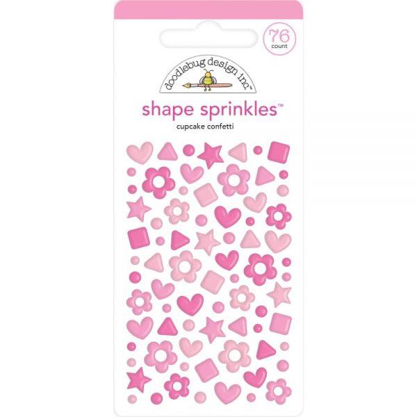 Doodlebug Cupcake Confetti pink shape sprinkles