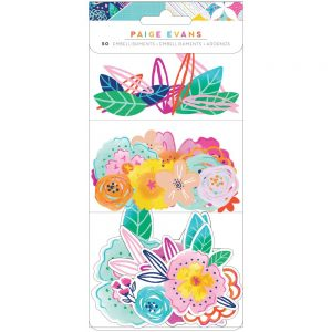Paige Evans Go The Scenic Route Floral Die Cuts