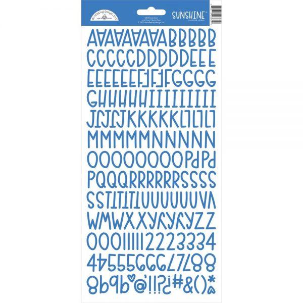 Doodlebug Blue Jean Sunshine cardstock stickers