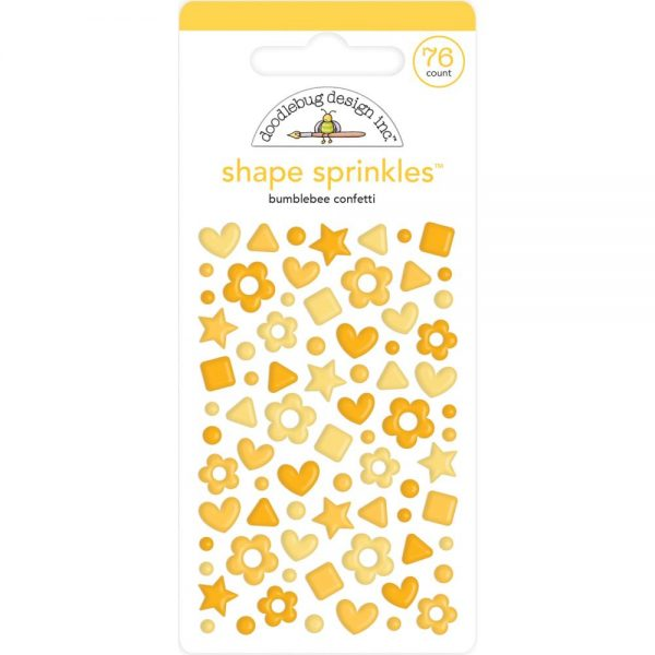 Doodlebug Bumblee Confetti Yellow Shape Sprinkles