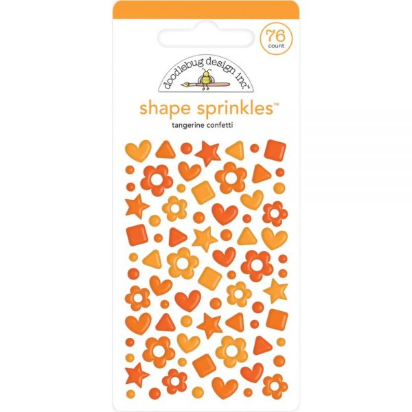 Doodlebug Tangerine shape sprinkles
