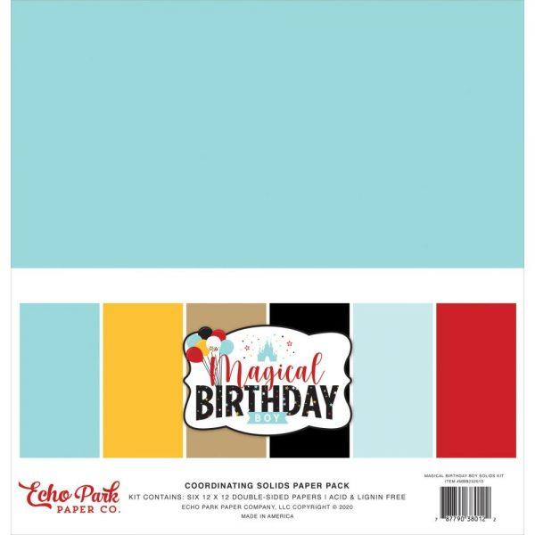 Echo Park Magical Birthday Boy 12x12 Cardstock Kit