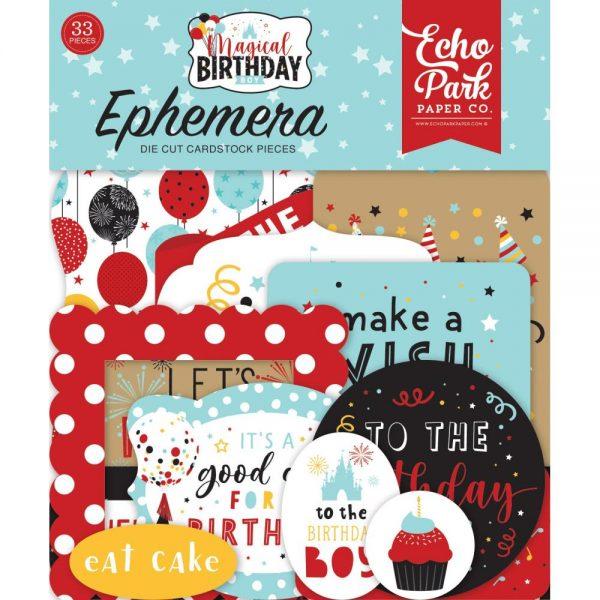 Echo Park Magical Birthday Boy Die Cut Ephemera