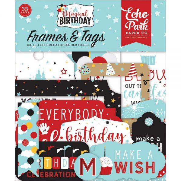 Echo Park Magical Birthday Boy Frames and Tags
