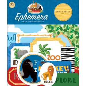 Carta Bella zoo adventures die cut ephemera