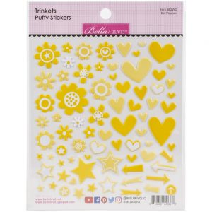 Bella Blvd trinket Bell Pepper Yellow puffy stickers
