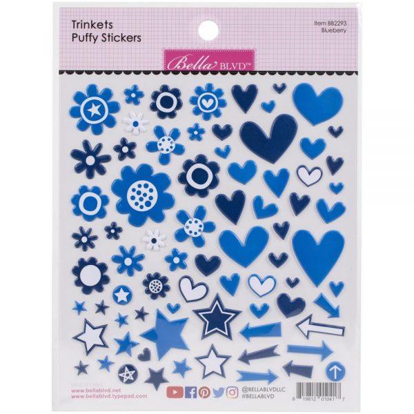 bella blvd blueberry blue trinket puffy stickers