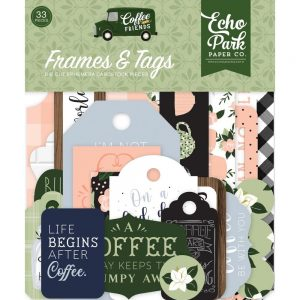 Echo Park Coffee & Friends Die Cut Frames and Tags